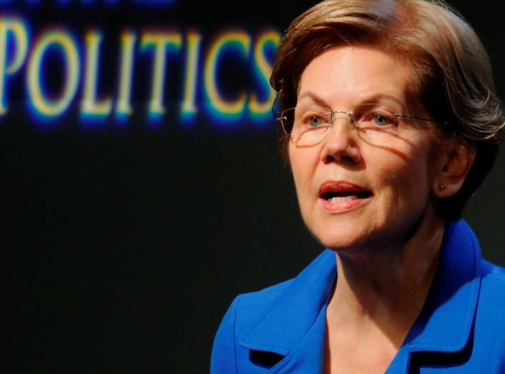 Democratic 2020 U.S. presidential candidate and U.S. Senator Elizabeth Warren (D-MA) delivers a campaign economic speech at Saint Anselm College's Institue of Politics in Manchester, New Hampshire, U.S., December 12, 2019. REUTERS/Brian Snyder