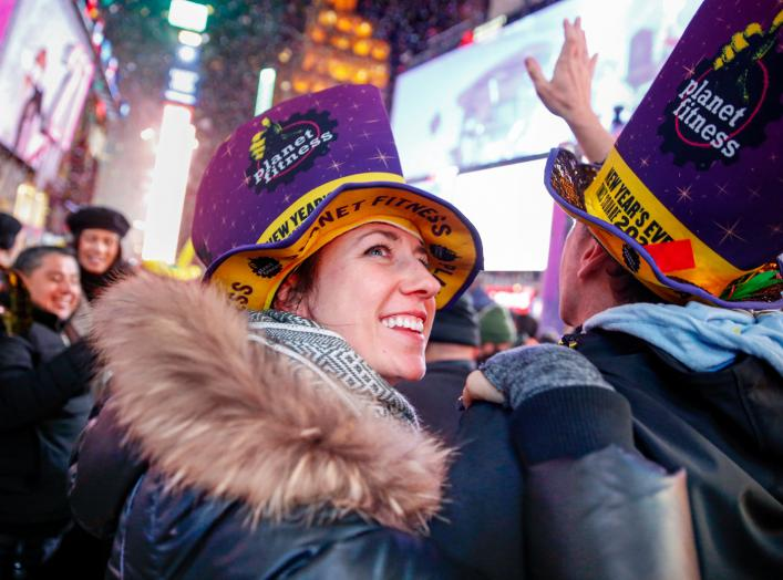 Revelers celebrate the New Year in Times Square in the Manhattan borough of New York City, U.S., January 1, 2020. REUTERS/Amr Alfiky