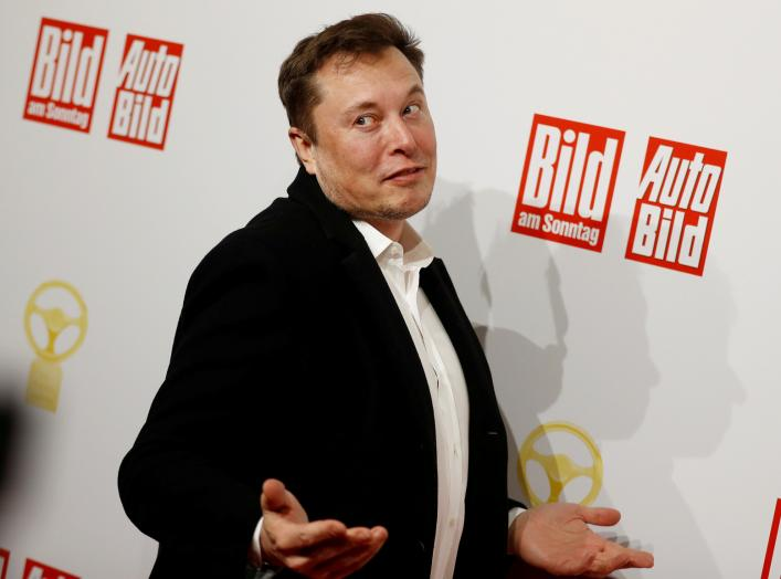 "FILE PHOTO: SpaceX owner and Tesla CEO Elon Musk arrives on the red carpet for the automobile awards ""Das Goldene Lenkrad"" (The golden steering wheel) given by a German newspaper in Berlin, Germany, November 12, 2019. REUTERS/Hannibal Hanschke - RC2V9D97E"