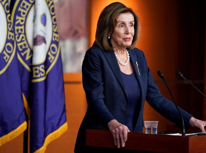 U.S. Speaker of the House Nancy Pelosi (D-CA) speaks during news conference about the impeachment of U.S. President Donald Trump at the U.S. Capitol in Washington, U.S., January 16, 2020. REUTERS/Joshua Roberts