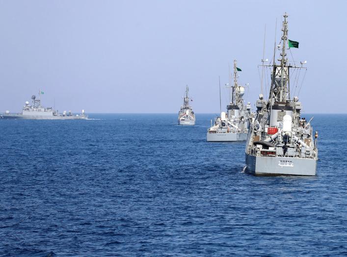 Saudi warships are seen during ÒGulf Shield 1Ó exercise by members of Royal Saudi Navy, east of Saudi Arabia, October 9, 2016. REUTERS/Faisal Al Nasser