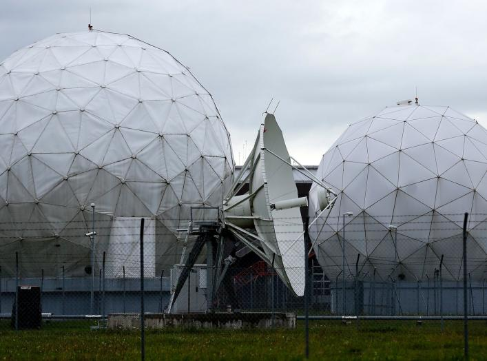 A satellite dish is seen in the former monitoring base of the National Security Agency (NSA) in Bad Aibling, south of Munich, August 13, 2013. REUTERS/Michael Dalder (GERMANY - Tags: POLITICS MILITARY)