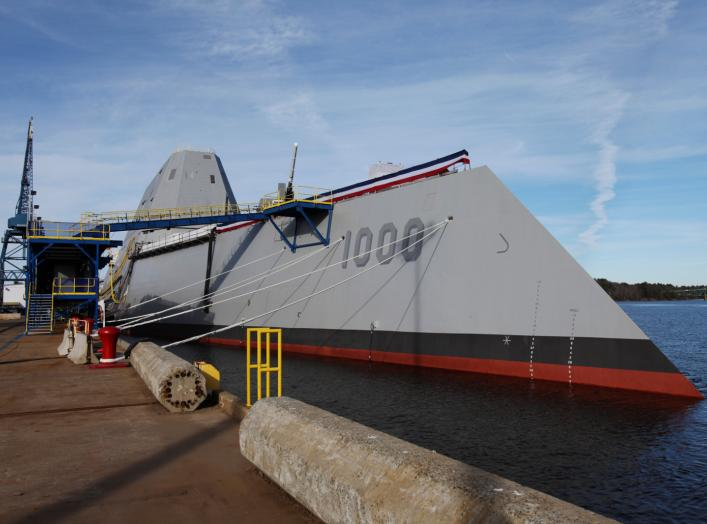 DDG 1000, the first of the U.S. Navy's Zumwalt Class of multi-mission guided missile destroyers, is pictured at Bath Iron Works in Bath, Maine November 21, 2013. REUTERS/Joel Page
