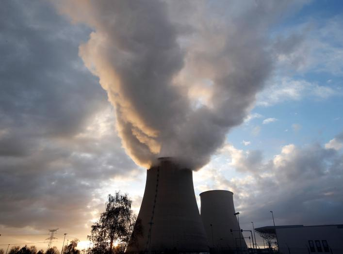 Steam rises at sunset from the cooling towers of the Electricite de France (EDF) nuclear power station at Nogent-Sur-Seine, France, November 13, 2015. The nuclear industry argues world leaders at the COP21 conference in Paris next week should not have to