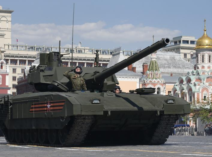 DATE IMPORTED:May 09, 2016A Russian T-14 tank with the Armata Universal Combat Platform drives during the Victory Day parade, marking the 71st anniversary of the victory over Nazi Germany in World War Two, at Red Square in Moscow, Russia, May 9, 2016.