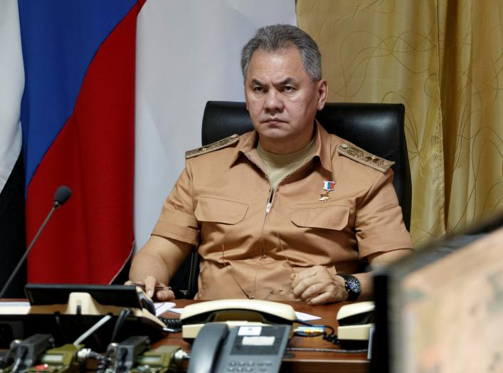 Russian Defense Minister Sergei Shoigu visits Hmeymim air base in Syria, June 18, 2016. Picture taken June 18, 2016. REUTERS/Vadim Savitsky/Russian Defense Ministry via Reuters