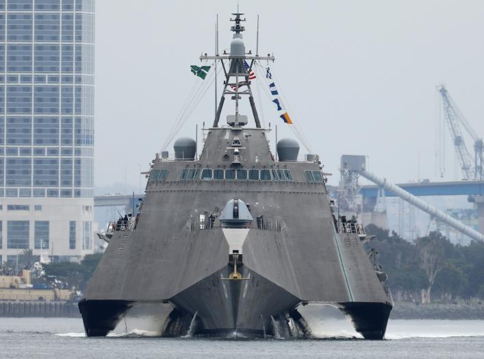 USS Jackson (LCS-6), an Independence-class littoral combat ship, is seen leaving San Diego, California, U.S., June 5, 2017. REUTERS/Mike Blake