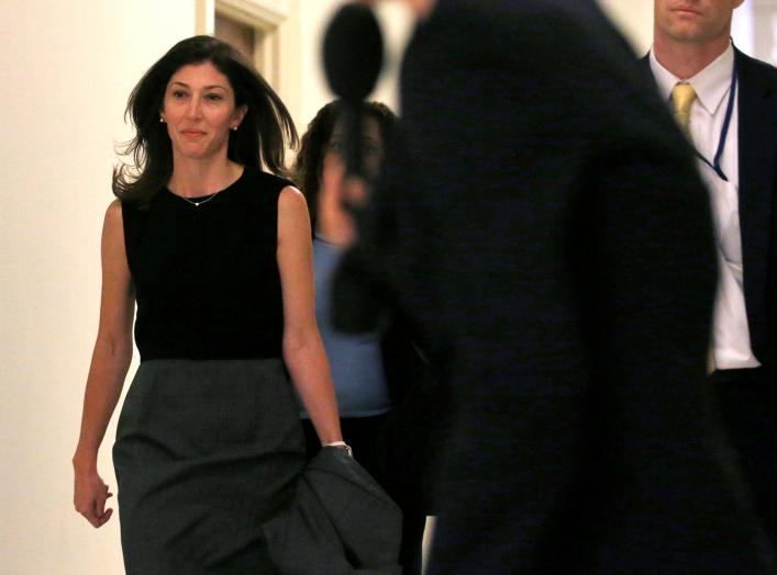 Former FBI lawyer Lisa Page arrives for a House Judiciary Committee deposition, as part of the ongoing congressional investigation related to decisions made by the Justice Department and FBI surrounding the 2016 election on Capitol Hill in Washington, U.S