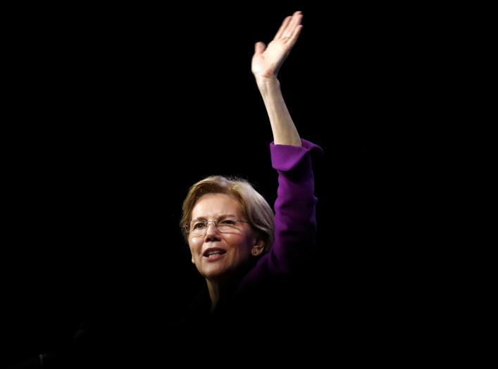 FILE PHOTO: U.S. Senator Elizabeth Warren (D-MA) speaks at the Netroots Nation annual conference for political progressives in New Orleans, Louisiana, U.S. August 3, 2018. REUTERS/Jonathan Bachman/File Photo