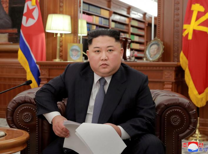 FILE PHOTO - North Korean leader Kim Jong Un poses for photos in Pyongyang in this January 1, 2019 photo released by North Korea's Korean Central News Agency (KCNA). KCNA/via REUTERS/File Photo ATTENTION EDITORS - THIS IMAGE WAS PROVIDED BY A THIRD PARTY.