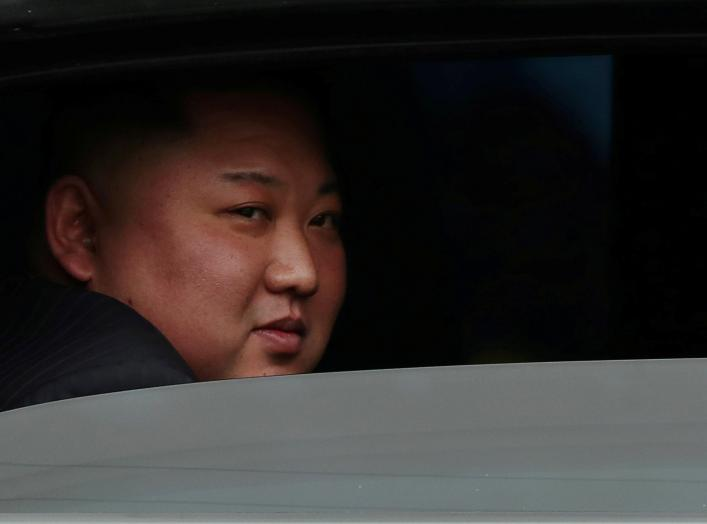 North Korea's leader Kim Jong Un sits in his vehicle after arriving at the Dong Dang railway station, Vietnam, at the border with China, February 26, 2019. REUTERS/Athit Perawongmetha TPX IMAGES OF THE DAY