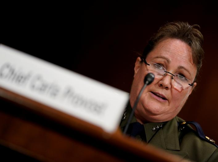 "United States Border Patrol Chief Carla Provost testifies before a Senate Judiciary subcommittee on Border Security and Immigration on ""The Humanitarian and Security Crisis at the Southern Border"" on Capitol Hill in Washington, U.S., May 8, 2019. REUTERS/"