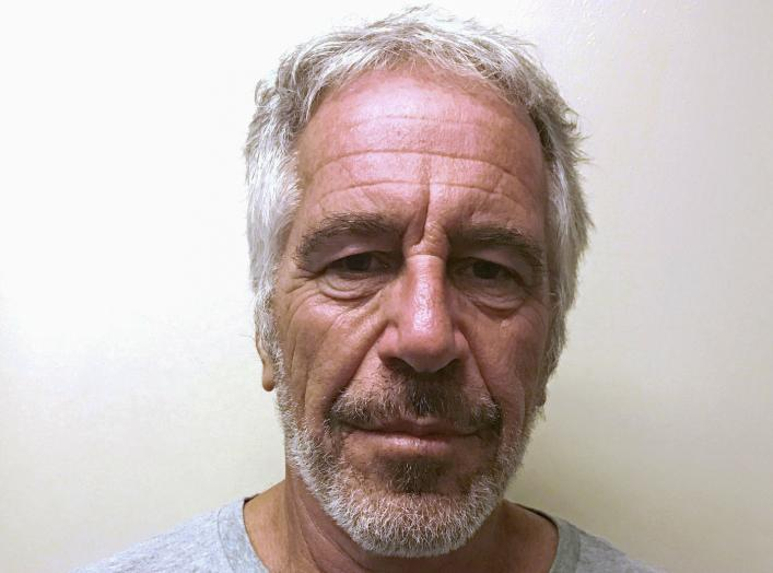 U.S. financier Jeffrey Epstein appears in a photograph taken for the New York State Division of Criminal Justice Services' sex offender registry March 28, 2017 and obtained by Reuters July 10, 2019. New York State Division of Criminal Justice Services/Han