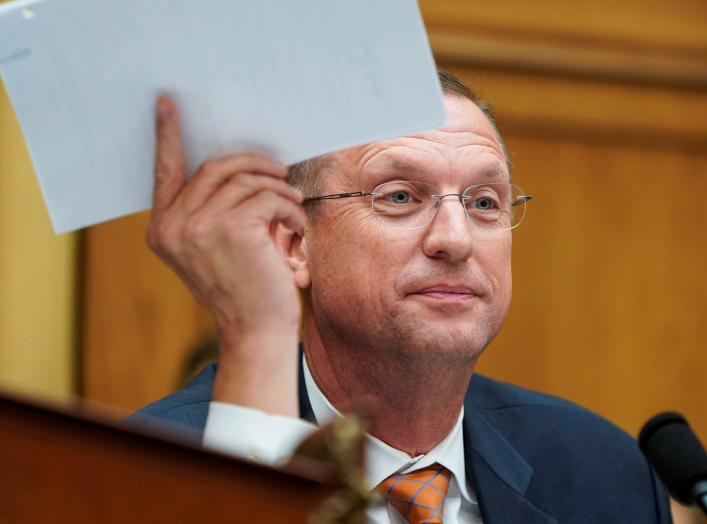 U.S. House Judiciary Committee ranking member Rep. Doug Collins (R-GA) delivers an opening statement before former Trump campaign manager Corey Lewanski testified during the House Judiciary Committee's first hearing of their impeachment investigation