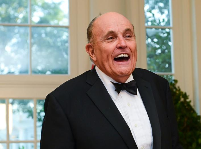 Rudy Giuliani arrives for a State Dinner for Australia's Prime Minister Scott Morrison at the White House in Washington, U.S. September 20, 2019. REUTERS/Erin Scott