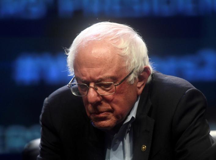 Democratic Presidential candidate U.S. Senator Bernie Sanders (D-VT) addresses attendees during the AFL-CIO Workers Presidential Summit in Philadelphia, Pennsylvania, U.S., September 17, 2019. REUTERS/Mark Makela