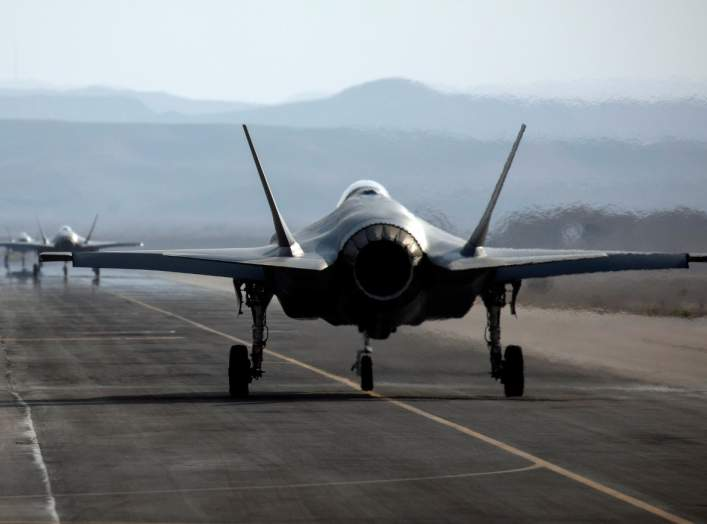 "An Israeli F35 aircraft is seen on the runway during ""Blue Flag"", an aerial exercise hosted by Israel with the participation of foreign air force crews, at Ovda military air base, southern Israel November 11, 2019. Picture taken November 11, 2019. REUTERS"