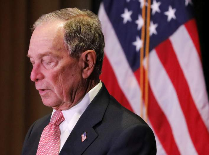 Democratic U.S. presidential candidate Michael Bloomberg delivers remarks where he was honored by the Iron Hills Civic Association at the Richmond County Country Club in Staten Island, New York, U.S., December 4, 2019. REUTERS/Andrew Kelly