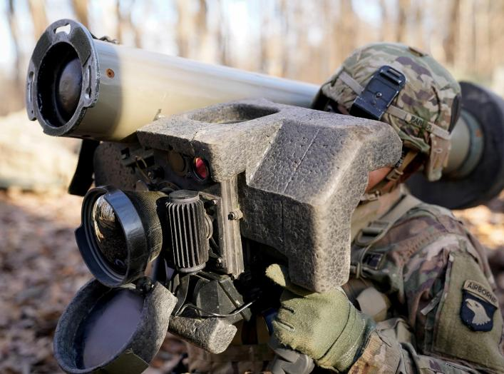 U.S. Army soldiers assigned to 101st Airborne Division (Air Assault) train on The Javelin Close Combat Missile System during Expert Infantryman Badge training at Fort Campbell, Kentucky. U.S., December 5, 2019. REUTERS/Bryan Woolston