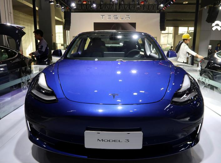 A China-made Tesla Model 3 electric vehicle is seen ahead of the Guangzhou auto show in Guangzhou, Guangdong province, China November 21, 2019. REUTERS/Yilei Sun