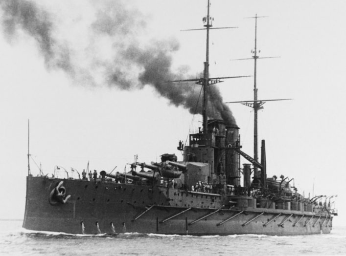 The Austro-Hungarian battleship Viribus Unitis in 1912. Courtesy of the International Naval Research Organization.