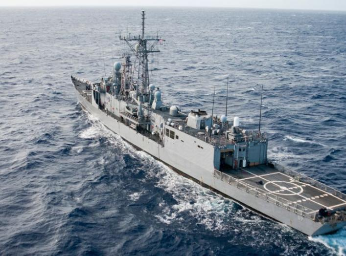 The guided-missile frigate USS Rueben James (FFG 57) conducts operations off the coast of Hawaii. U.S. Navy