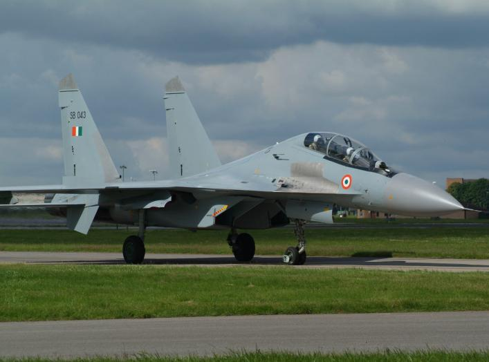 "Su-30MKI SB-043 from 30Sq ""Rhinos"" Indian AF at RAF Waddington, 07-07-07 taking part in Exercise Indra Danush 2007"