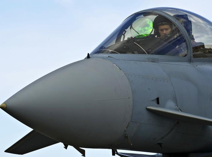 A German air force pilot conducts preflight checks from the cockpit of a GAF Eurofighter Typhoon before a combat training mission during Red Flag-Alaska 12-2 on Eielson Air Force Base, Alaska, June 11, 2012. U.S. Air Force photo by Tech. Sgt. Michael R. H