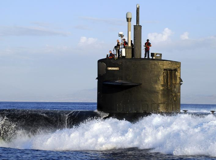 SOUDA BAY, Crete (Jun 10, 2008) The Los Angeles-class fast attack submarine USS Norfolk (SSN 714) heads to sea after a routine port visit. Norfolk is on a scheduled six-month independent deployment operating in the U.S. Central Command area of responsibil