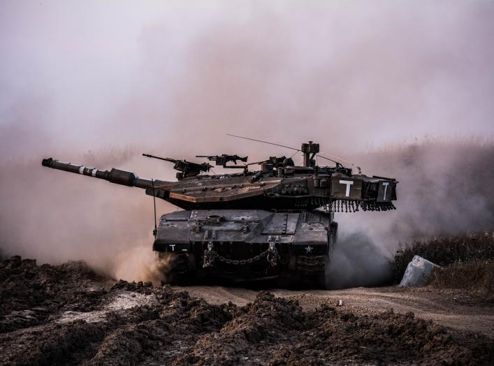 Battalion 74 tanks roll across beautiful Israeli landscapes.