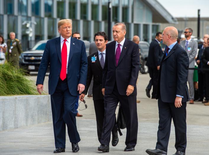 Donald Trump (US President) and Recep Tayyip Erdogan (President of Turkey)