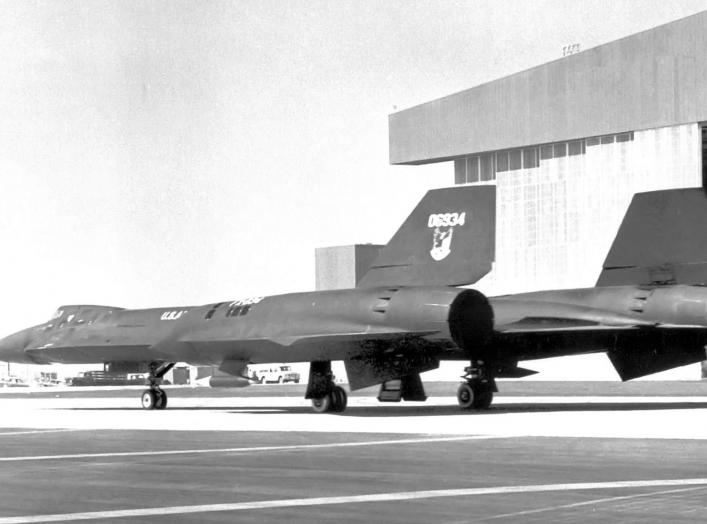 Lockheed YF-12A 60-6934 in Air Defense Command markings 1963. The only YF-12A in ADC markings, its first test flight occurred on 7 August 1963 at Groom Lake, Nevada