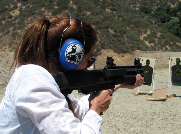 Ingrid and the Kel-Tec KSG. This is rapidly becoming everyone's favorite shotgun. 4 May 2013. Simonov/Flickr