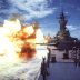 330-CFD-DN-ST-86-02454: The battleship USS Iowa (BB 61) fires a broadside to starboard from its Mk 7 16-inch guns, 7/1/1984. PH1 Jeff Hilton, USN. (OPA-NARA II-2016/01/07).