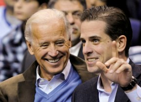 FILE PHOTO: In this file photo, former U.S. Vice President Joe Biden and his son Hunter Biden attend an NCAA basketball game between Georgetown University and Duke University in Washington, U.S., January 30, 2010. REUTERS/Jonathan Ernst/File Photo