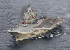 A photo taken from a Norwegian surveillance aircraft shows Russian aircraft carrier Admiral Kuznetsov in international waters off the coast of Northern Norway on October 17, 2016. 333 Squadron, Norwegian Royal Airforce/NTB Scanpix/Handout via Reuters ATTE