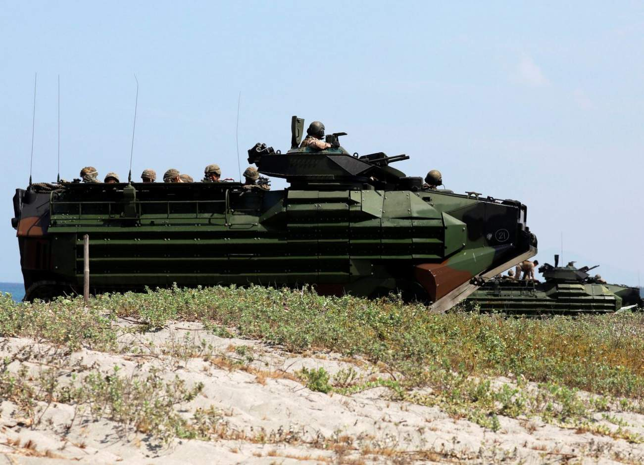 Meet the 29-Ton AAV7: The Marines' New Armored Vehicle That Can Swim