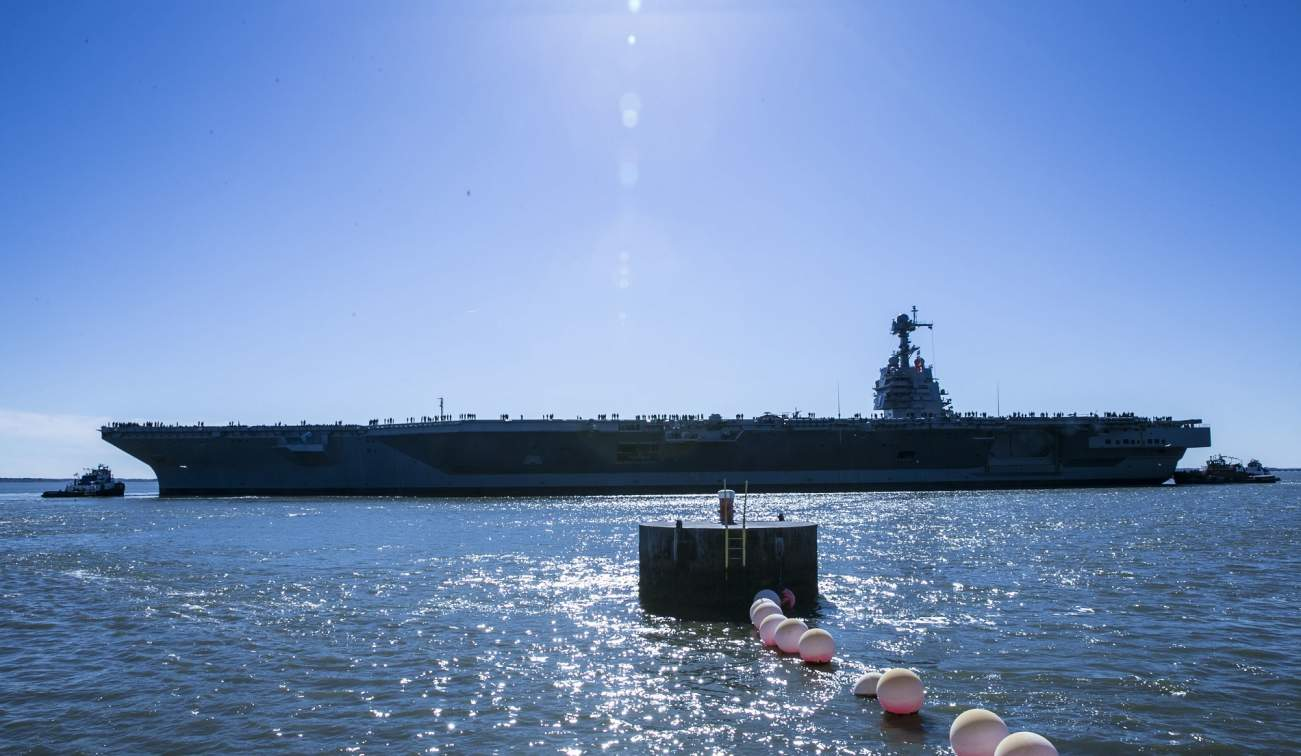The Navy Let Me Tour Its Most Deadly Aircraft Carrier Ever. Here's What I Experienced.