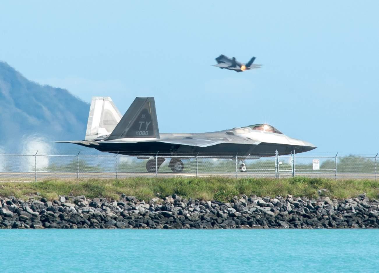 U.S. Air Force Stealth F-22s and F-35s Battled F-16s in Mock Combat