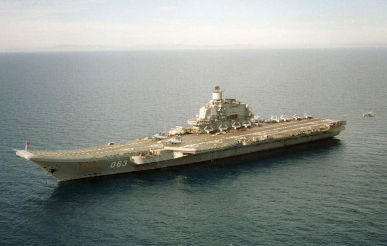 The U.S. Navy Was Worried This Old Russian Aircraft Carrier Could Sink