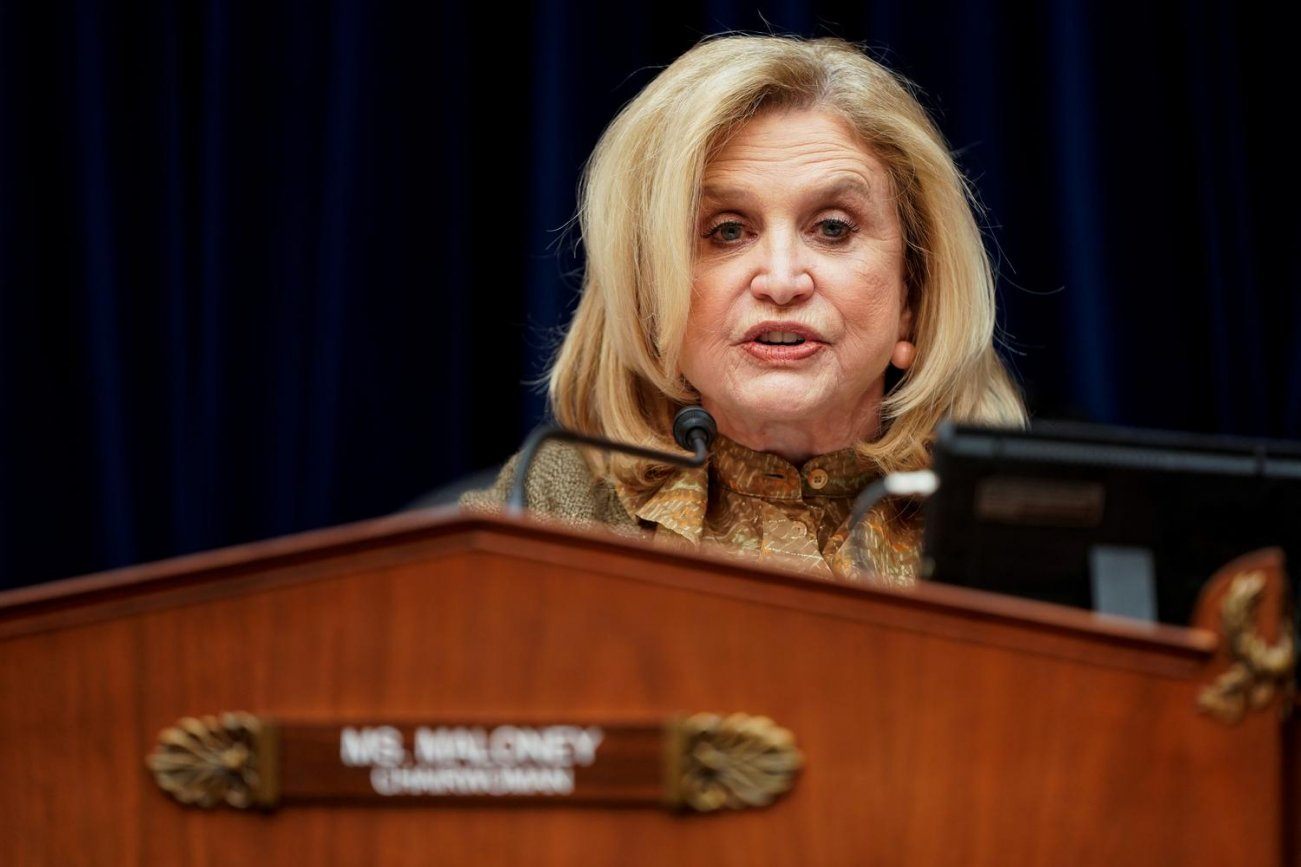 Chairwoman of the House Government Oversight and Reform Committee Carolyn Maloney (D-NY) leads a hearing about coronavirus preparedness and response on Capitol Hill in Washington, U.S., March 12, 2020. REUTERS/Joshua Roberts
