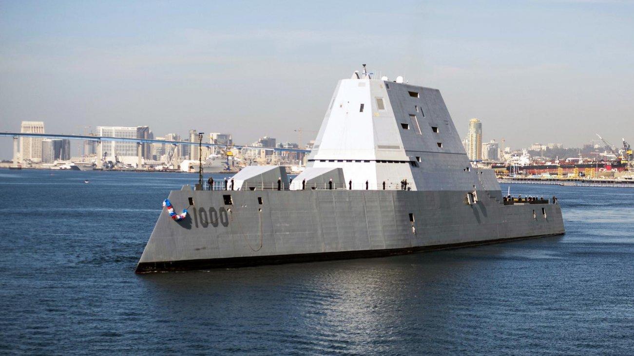 The U.S. Navy's Stealth USS Zumwalt Destroyer Finally Fires Its Guns
