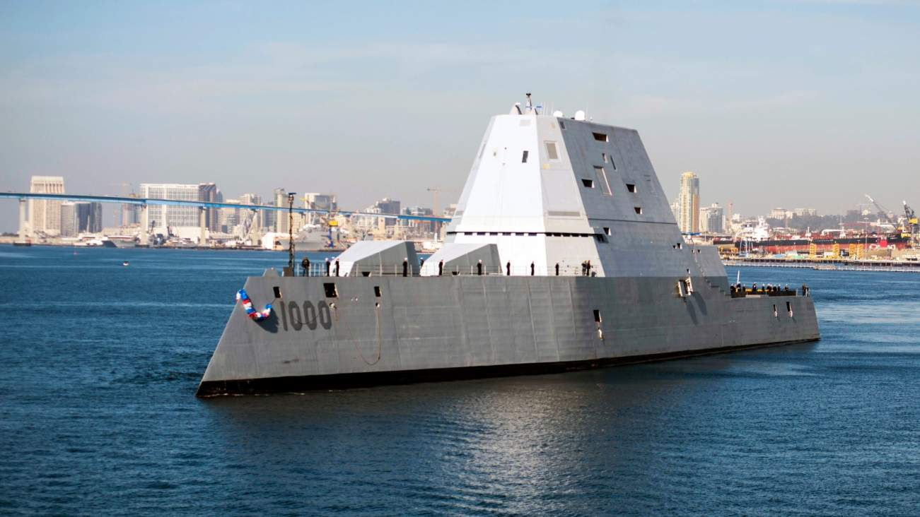 With Futuristic Weapons, The Navy's Zumwalt Stealth Destroyer Will Be A Real Monster
