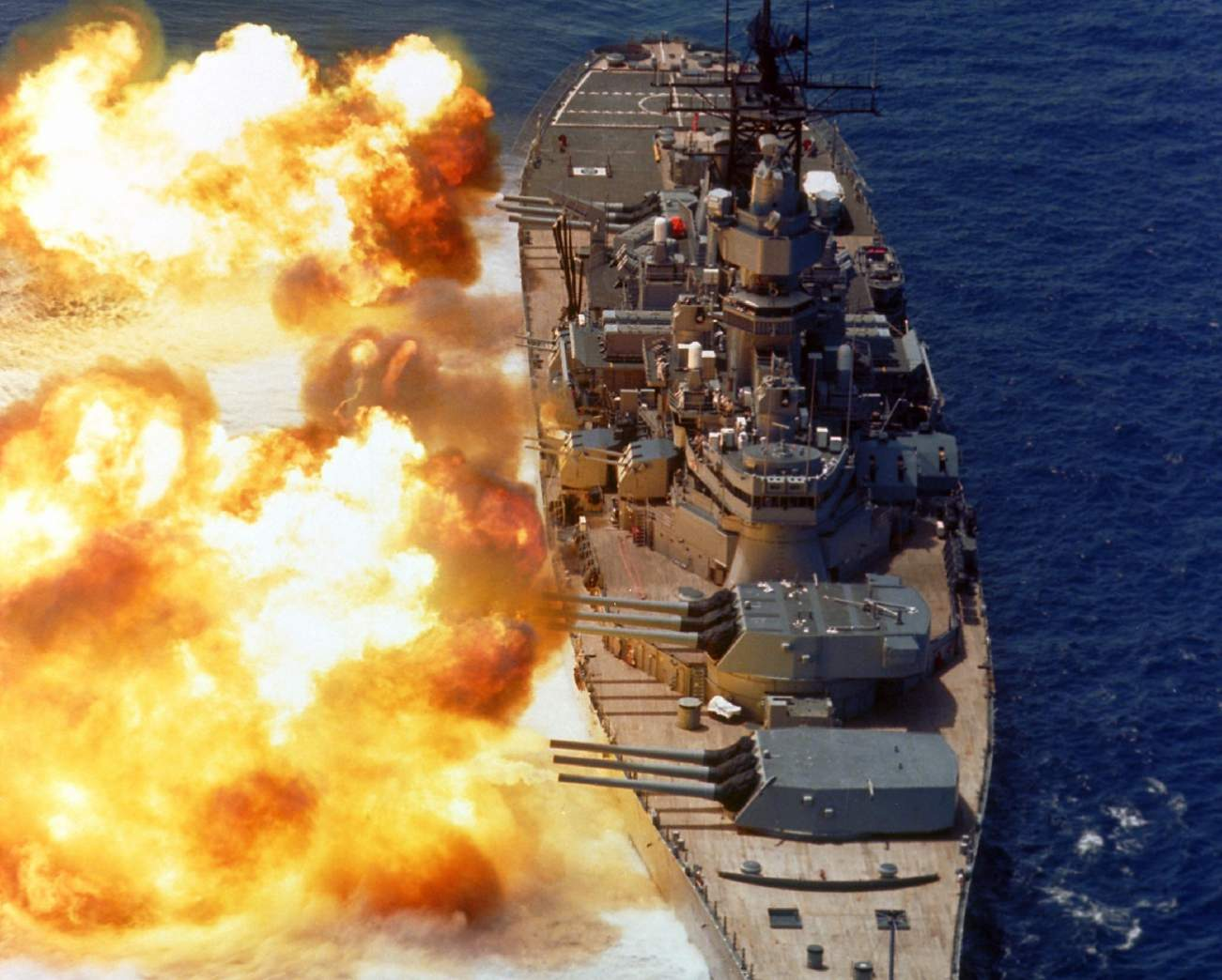 While You Will Never See a Battleship Fire Its Big Guns Ever Again