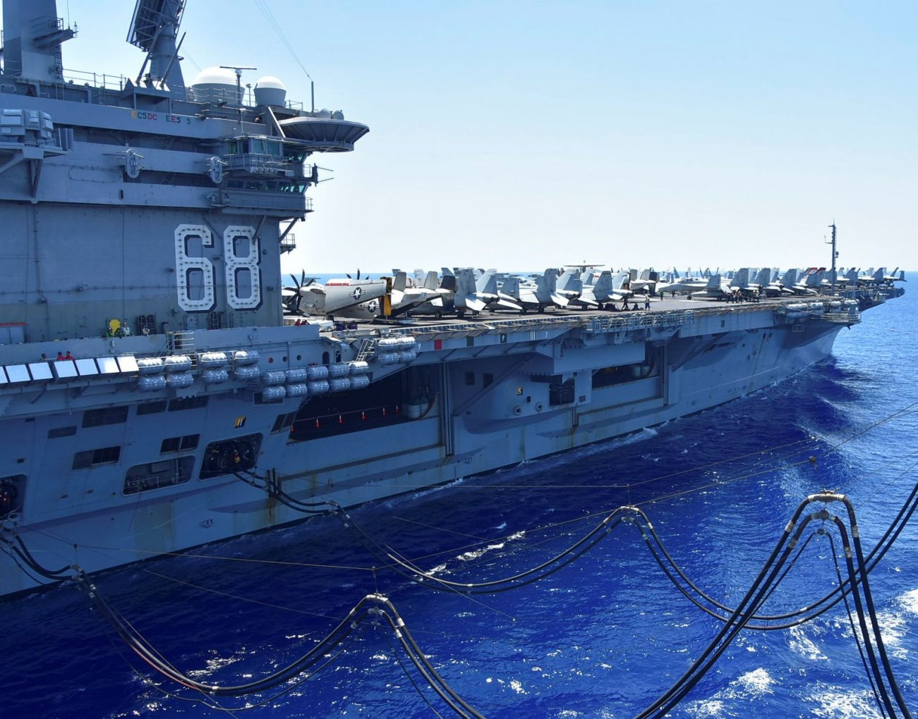 The U.S. Navy Has an Aircraft Carrier Strike Group Off the Coast of Iran
