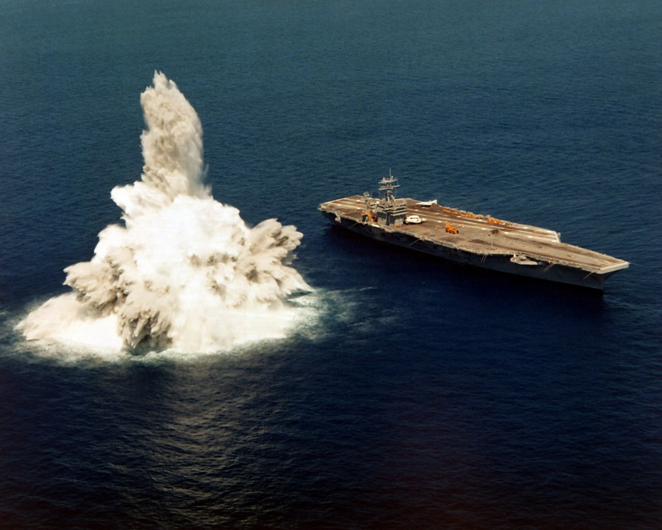 Shock Trials: Why the U.S. Navy Detonates Massive Bombs Near Aircraft Carriers