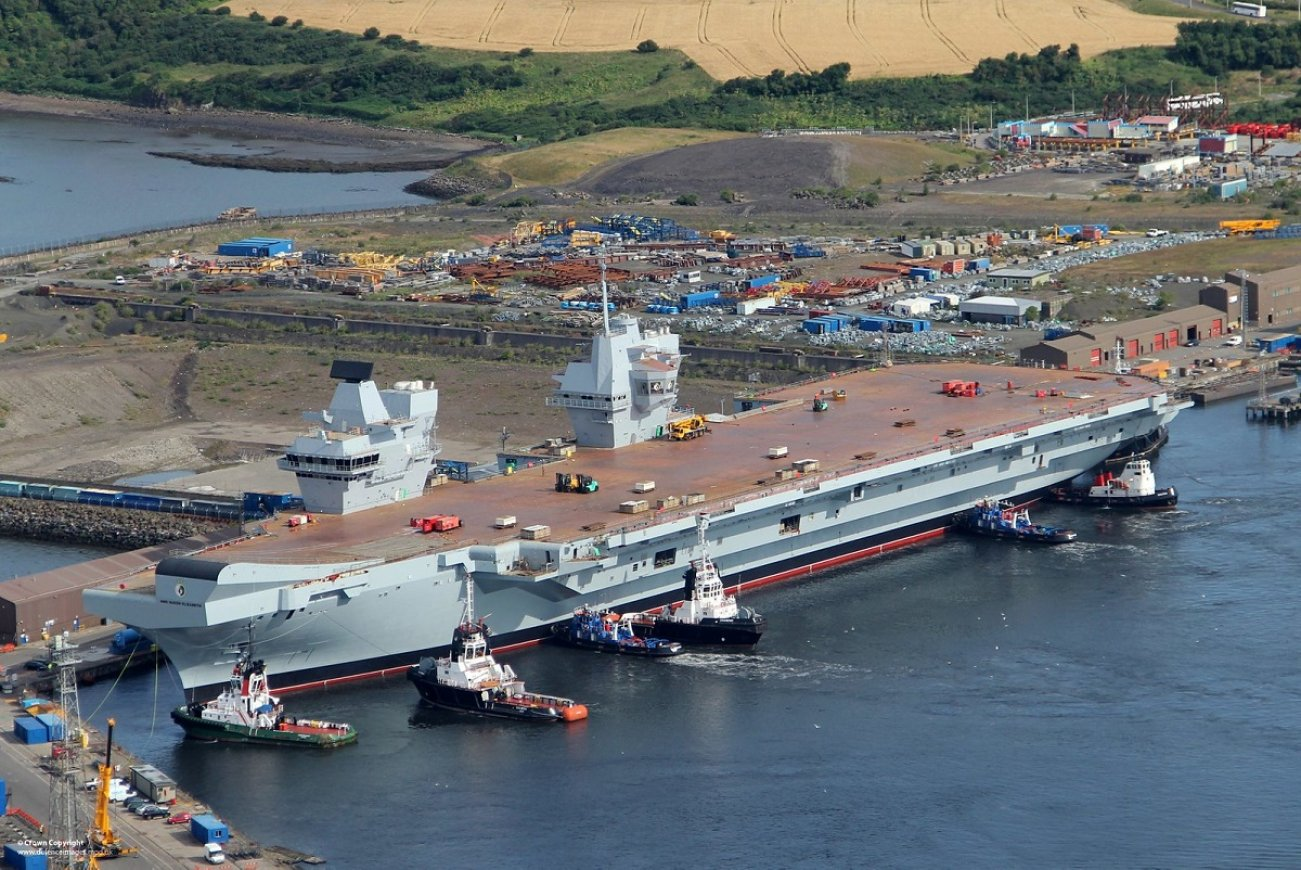 New Aircraft Carrier for Royal Navy: HMS Queen Elizabeth Finally Set Sail This Week