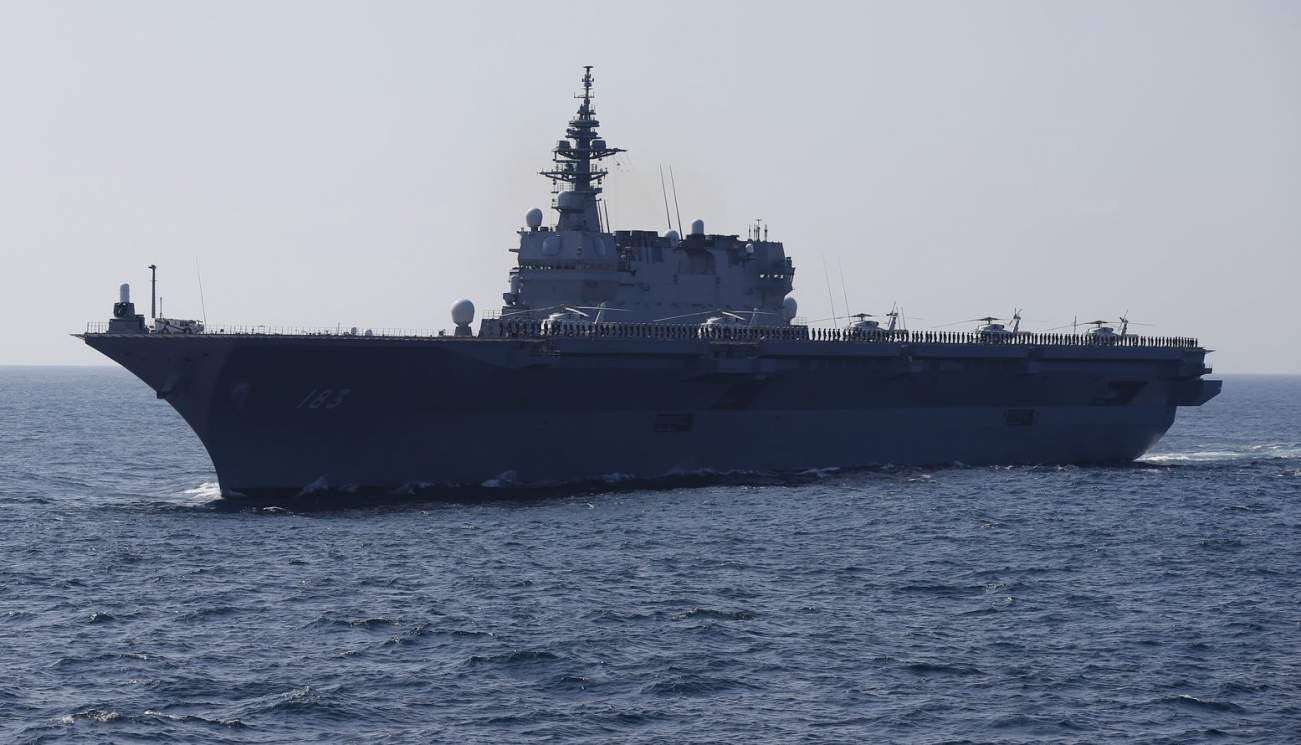 Picture a Japanese Aircraft Carrier Armed With American-Built F-35s