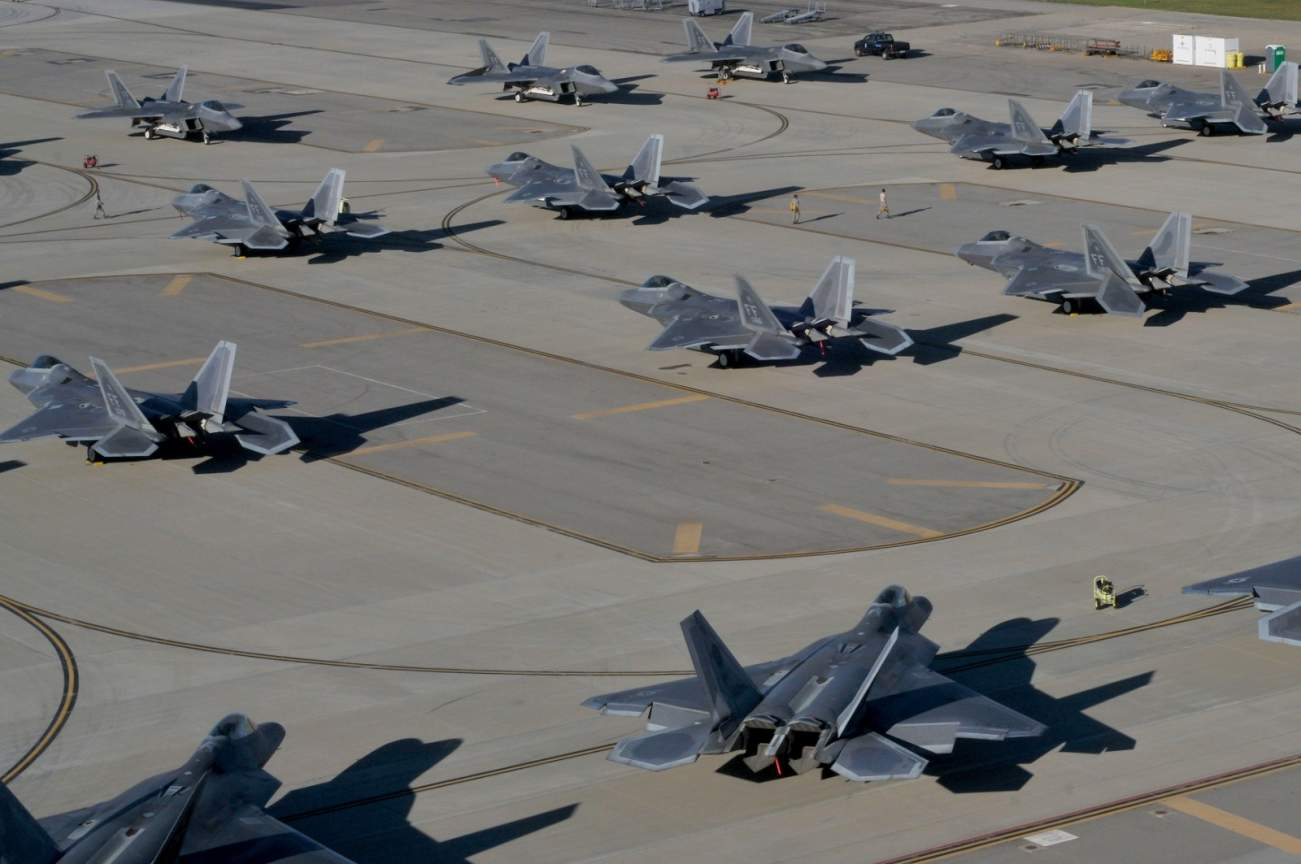 Here's Why 24 F-22 Raptors Suddenly Went Airborne Last Spring