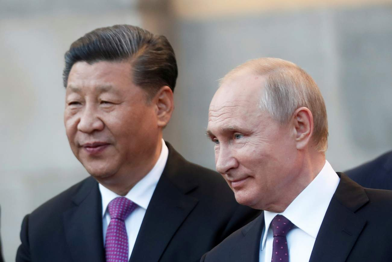 In St Petersberg, Xi, Putin decry U.S. domination